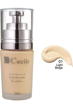Cecile Cecile Kırışıklı Görünümünü Kapatmaya Yardımcı Fondöten / End The Appearance Of Anti Wrinkle Foundation 01