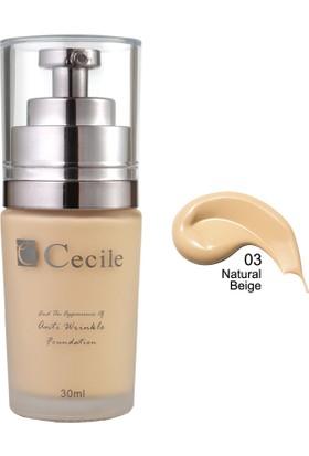 Cecile Cecile Kırışıklı Görünümünü Kapatmaya Yardımcı Fondöten / End The Appearance Of Anti Wrinkle Foundation 03