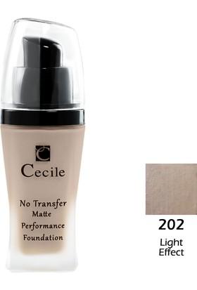 Cecile Mat Fondöten / No Transfer Matte Performance Foundatıon 202
