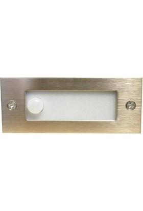 Ed-Son Ed-Son Dikdörtgen Sensörlü Koridor Led Armatür Beyaz Işık Ed-3375 Krom Kasa