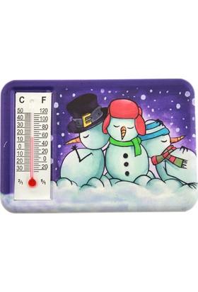 Hunga Termometreli Kardan Adam Baskılı Magnet