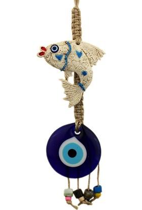 Hunga Yunus Balığı Model Nazar Boncuğu Duvar Süsü