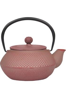 Bambum Linden Sümbül Toz Pembe Döküm Çaydanlık 800 Ml