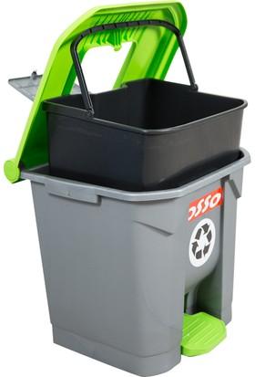 Osso Çöp Kovası 30 Litre İç Kovalı Ve Pedallı