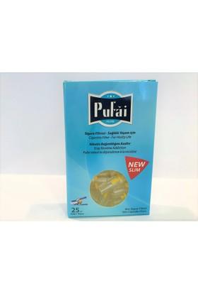 Pufai slim sigara filtresi ağızlığı, 250 adet ( 10 adet turkuaz kutu * 25 adet slim filtre ) slim,slender ve süper slim sigara filtresi
