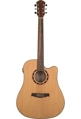 Kozmos KDA-20CE NAT Elektro Akustik Gitar
