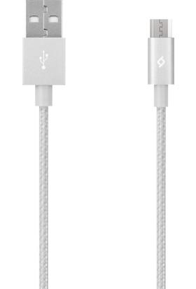 TTec AlumiCable Micro USB Şarj Kablosu - Gümüş 2DK11G