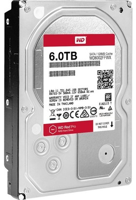 "WD Red Pro 3.5"" SATA III 6Gbit/s IntelliPower 6TB 256MB Cache NAS Disk WD6002FFWX"