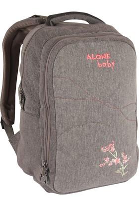 Alone Çanta Siyah Anne Bebek Bakım Sırt Çantası