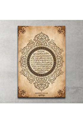 Bereket Duası Özel Tasarım Kanvas Tablo 20x30 Cm.