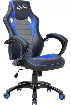 Max Office Racing Oyuncu ve Çalışma Koltuğu - Siyah - Mavi - Gri