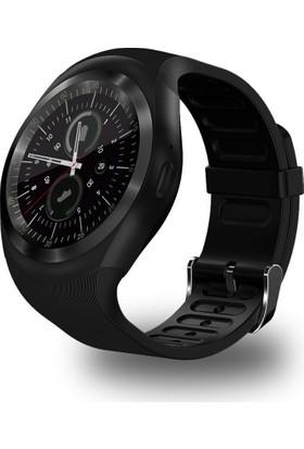 Case 4U Samsung iPhone Sony LG HTC Y1m Nabızölçerli Akıllı Saat (IOS ve Android Uyumlu)