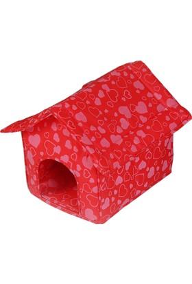 Petzoom Kedi Evi Yatağı Kırmızı