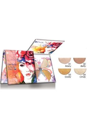 Cecile 4 lü Aydınlatıcı Palet / Color Pop Up Butterfly Effect Illuminator&Highlighter&Bronzing Palette