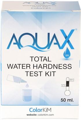 """Yerli, 50 mL AQUAX - Toplam Su Sertliği, Sertlik Test Kiti / Su Kalitesini Anlamak İçin Test kiti. """