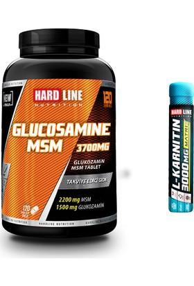 Hardline Nutrition Glucosamine MSM 120 Tablet + L-Karnitin Shot