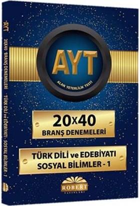 Robert Ayt 20X40 Branş Denemeleri - Türk Dili Ve Edebiyatı - Sosyal Bilimler 1