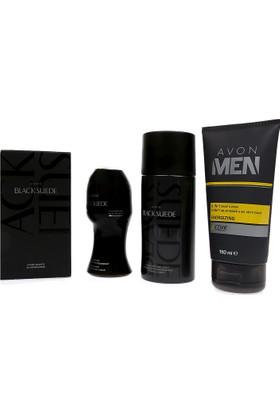 Avon Black Suede Erkek Parfüm Seti