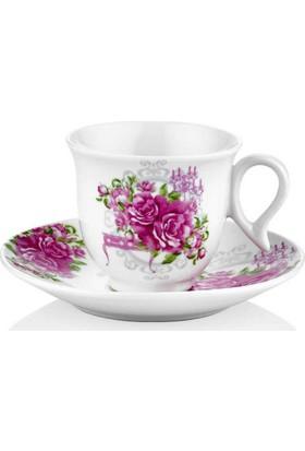 Taç 6752 Romantic Warm 6 Lı Kahve Fincan Takımı