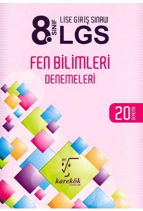 Karekök 8. Sınıf LGS Fen Bilimleri 20 Deneme