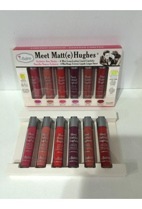 The balm Meet Matte Hughes 6Lı Ruj Seti
