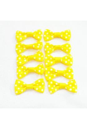 Byozras Mini Puanlı Fiyonk - Sarı Renk - 10'lu Paket