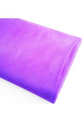 Byozras Kristal Tül - En 3 Metre - Soft ve Canlı Renklerde - Mor