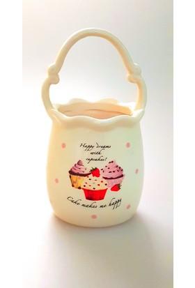 camsa Cupcake Desenli Kaşıklık