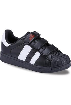 JUMP 16757 Çocuk Spor Siyah Beyaz