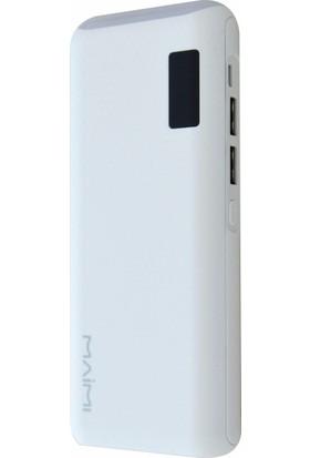 Maimı M105+ 10000 Mah 2 Çıkışlı 2.1A /1 A Powerbank Display Göstergeli Ve Led Işıklı