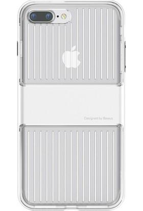 Baseus Apple iPhone 8 Plus Kılıf Baseus Travel Serisi Çift Katmanlı Şeffaf Silikon Kılıf