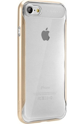Baseus Apple iPhone 8 Plus Kılıf Baseus Fusion Serisi Şeffaf Silikon