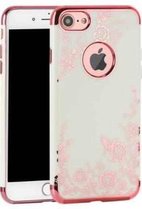 Vendas Apple iPhone 6/6S Sarı Yaldızlı Desenli Silikon Kılıf + Ekran Koruyucu