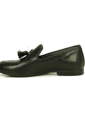 Lufigo Siyah Örgülü Casual Erkek Ayakkabı