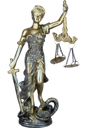 Adalet Heykeli 20 cm.