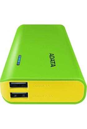 Adata 2.1A/1A - 2USB 10000MAH Powerbank Green/Yellow APT100-10000M-5V-CGRYL