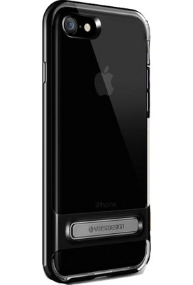Verus Apple iPhone 8 - iPhone 7 Crystal Bumper Series Kılıf Jet Black