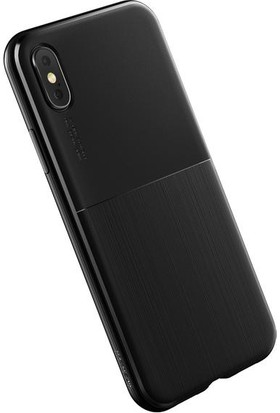 Verus Apple iPhone X Single Fit Kılıf Black