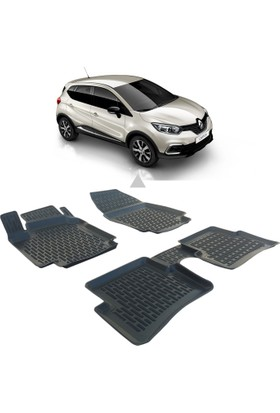 Otom Renault Captur 2013-Sonrası Araca Özel 3D Paspas