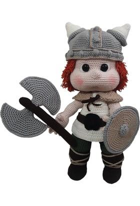 Knitting Toy El Örgüsü (Amigurumi) Sevimli Viking