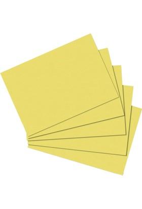 Herlitz Kartoteks A6 100'lü Düz Sarı 10836484