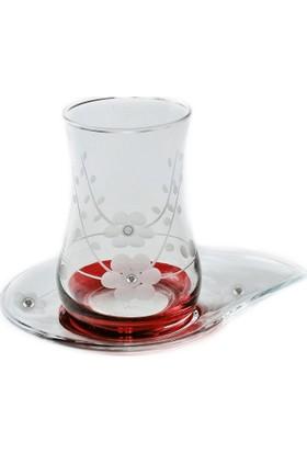 Başak Doğa (Kırmızı Taşlı) Çay Takımı