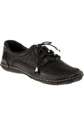 Stella 18022 Bağlı Günlük Siyah Kadın Ayakkabı