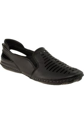 Stella 18024 Bağsız Günlük Siyah Kadın Ayakkabı