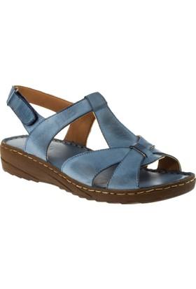 Stella 18053 Tek Cırt Mavi Kadın Sandalet