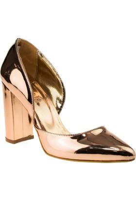 Stella 18070 Dolgu Topuk Pembe Kadın Ayakkabı