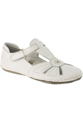 Stella 18100 Tek Cırt Günlük Beyaz Kadın Ayakkabı