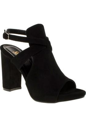 Stella 18143 Yüksek Topuk Siyah Kadın Ayakkabı