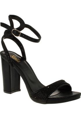 Stella 18146 Yüksek Topuk Siyah Kadın Ayakkabı