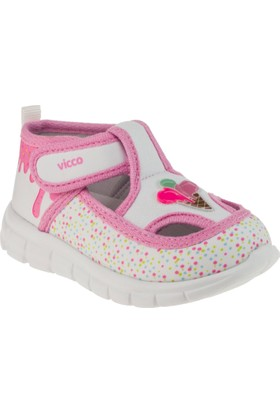 Vicco 877.18Y.083 Tek Cırt Keten Beyaz Çocuk Ayakkabı